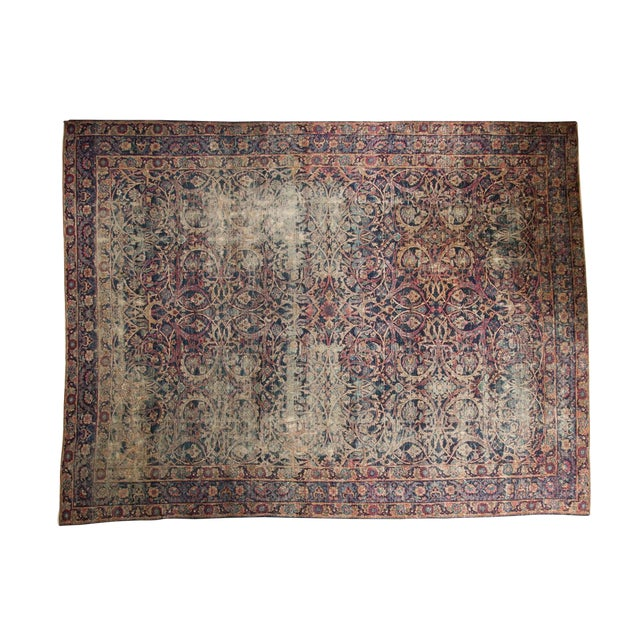 "Vintage Yezd Carpet - 9'2"" X 11'9"" For Sale"