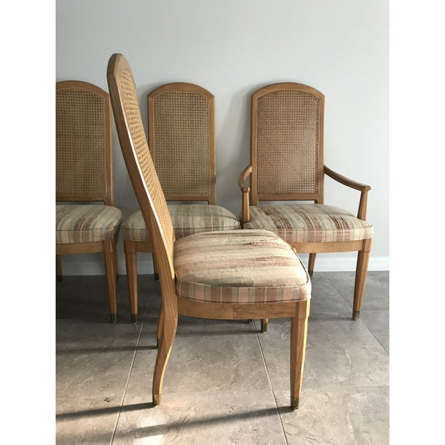 Vintage Henredon Scene Two Dining Chairs - Set of 6 For Sale In Orlando - Image 6 of 10