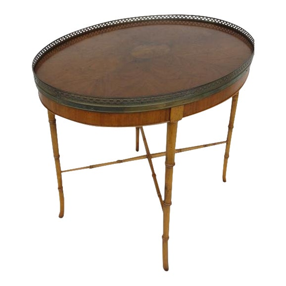 20th Century Chinoiserie Holland Salley Baker Furniture End Table For Sale