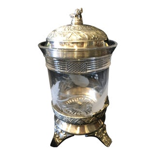 Antique Art Nouveau Vanity Jar For Sale