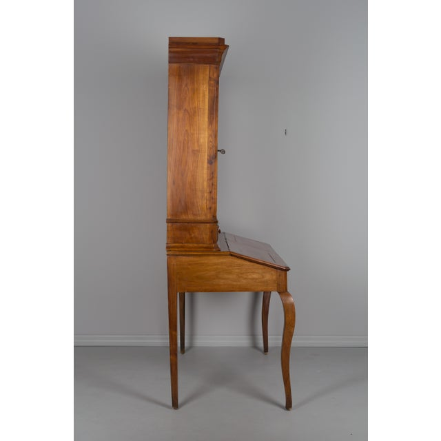 Late 19th Century Antique French Country Style Slant Top Desk For Sale - Image 4 of 11