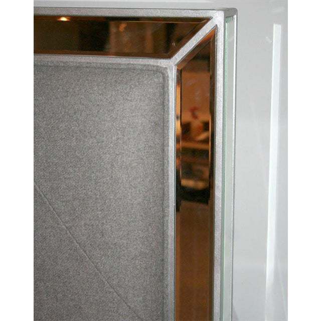 2000 - 2009 Custom Mirrored Bed with Silver Trim Detailing For Sale - Image 5 of 6