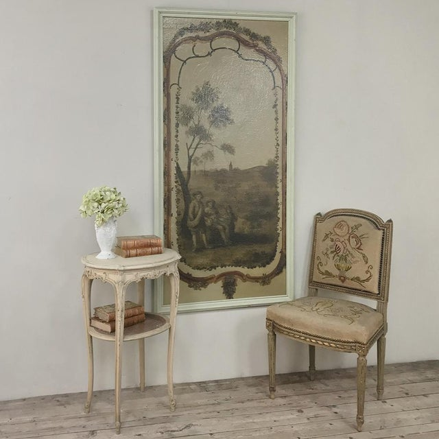 French 19th Century French Louis XVI Painted Oval End Table For Sale - Image 3 of 13
