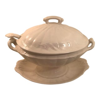 1960s Cottage Ironside Soup Tureen With Ladle and Plate - 4 Pieces For Sale