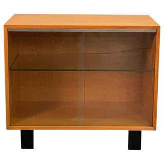 George Nelson for Herman Miller Glass Front Cabinet Credenza For Sale