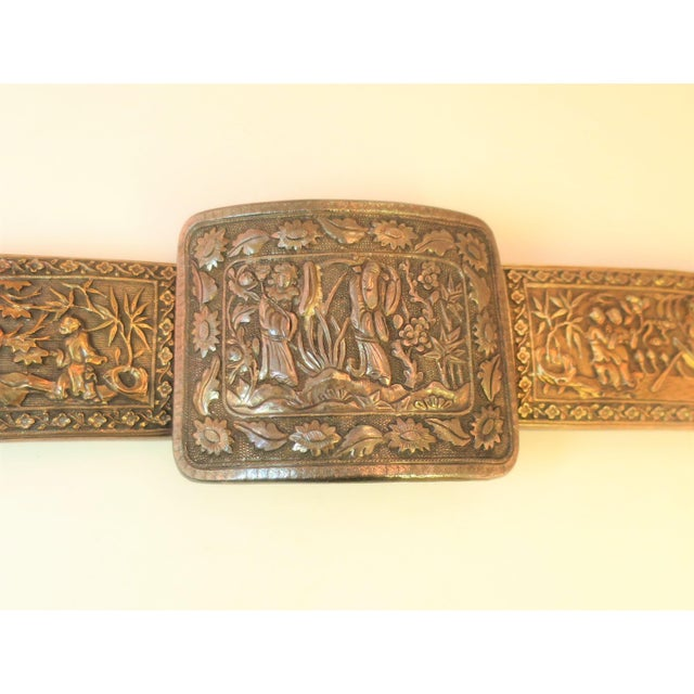 Traditional Early 19th Century Asian Silver Belt, China 1830s For Sale - Image 3 of 13