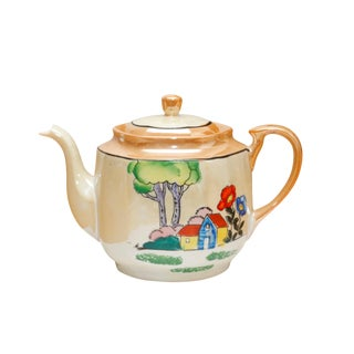 Mid Century Japanese Porcelain Teapot For Sale