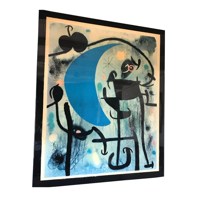 Joan Miro 1980's Lacquer Mounted Italian Poster - Image 1 of 10