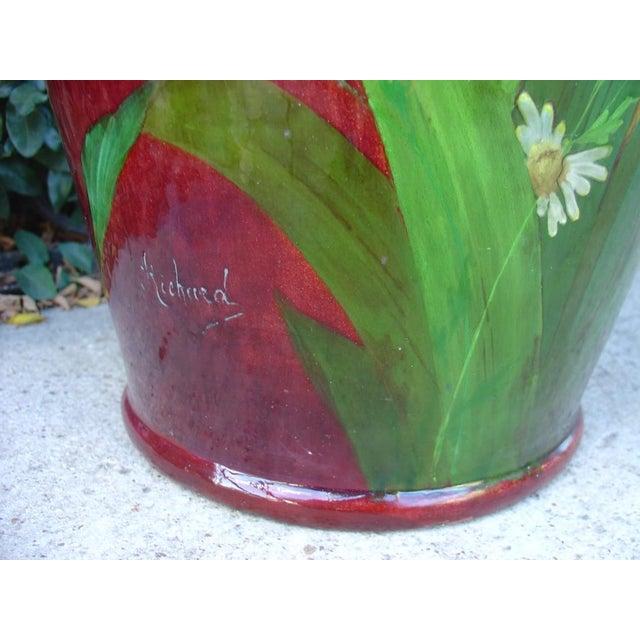 Red Antique Grande 'Bourg La Reine' Vase For Sale - Image 8 of 9