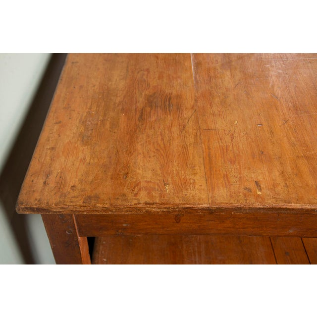 Large 19th Century French Pine Drapers Table With Original Finish For Sale - Image 9 of 13