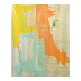 Signed Original Abstract Resin Painting 7400 For Sale
