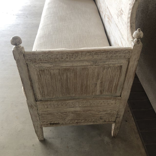 Tan Vintage Gustavian Newly Upholstered Daybed For Sale - Image 8 of 13