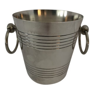 French Silverplate Small Ice Bucket For Sale