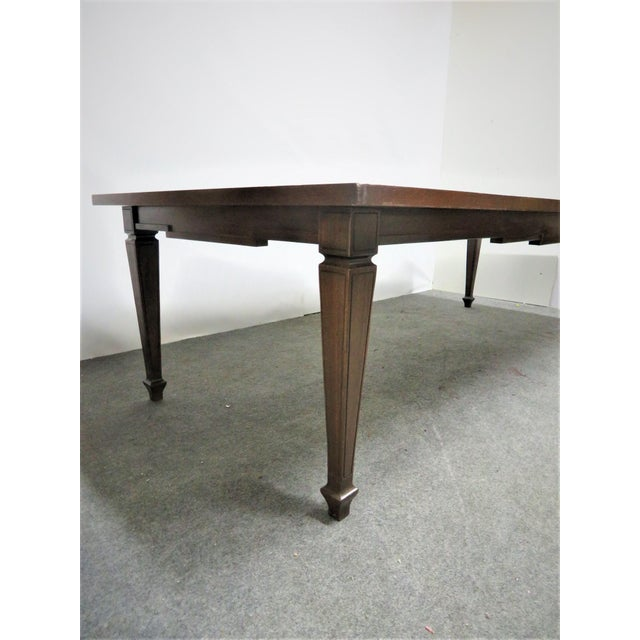 Mid 20th Century Italian Style Walnut Dining Table For Sale - Image 5 of 9