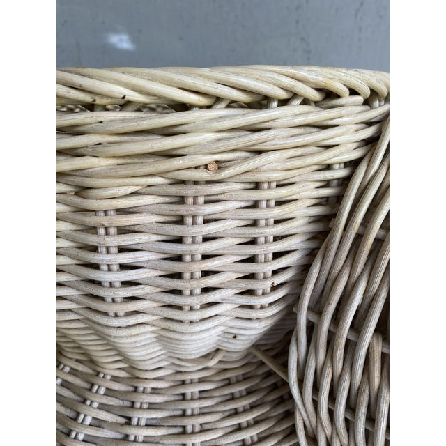 1980s Vintage Coastal Wicker Elephant Basket For Sale - Image 5 of 13