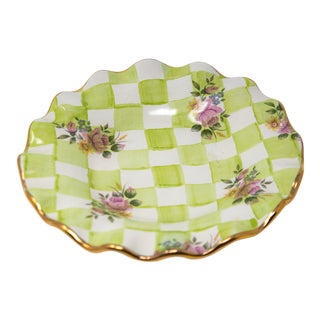 MacKenzie Childs Honeymoon Sweet Pea Green Luncheon Plate For Sale
