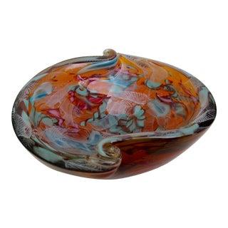 """C.1950s Original Dino Martens for Fratelli Toso, Italian Murano Hand-Blown """"Tutti-Frutti"""" Decorative Bowl For Sale"""