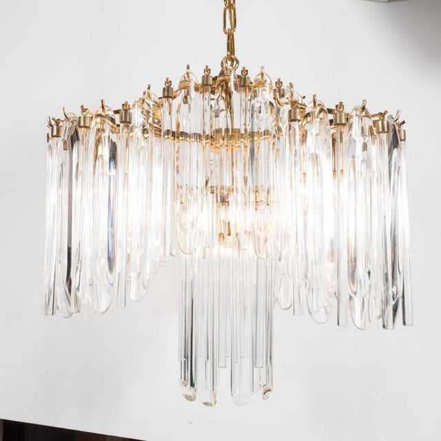 Mid-Century Draped Design Chandelier by Lobmeyr, 24-Karat Gold-Plated Fittings For Sale In New York - Image 6 of 10