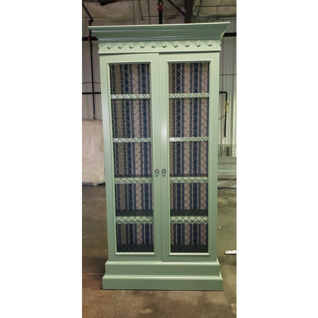 Green Traditional Green Painted Bookcase For Sale - Image 8 of 8