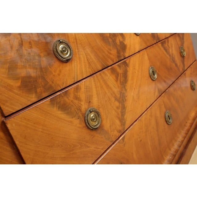 Biedermeier Mahogany Root Secretaire, Circa 1820 For Sale In Chicago - Image 6 of 10