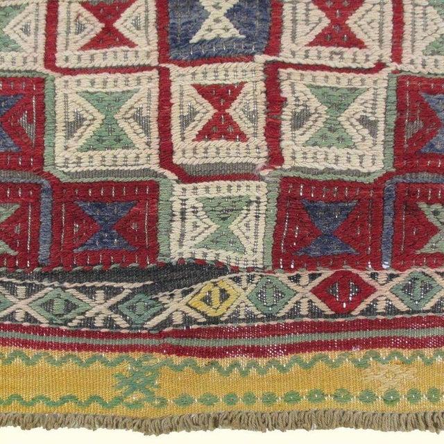 Vintage Turkish Kilim Cicim Flatweave- 5'' x 8'9'' - Image 5 of 5