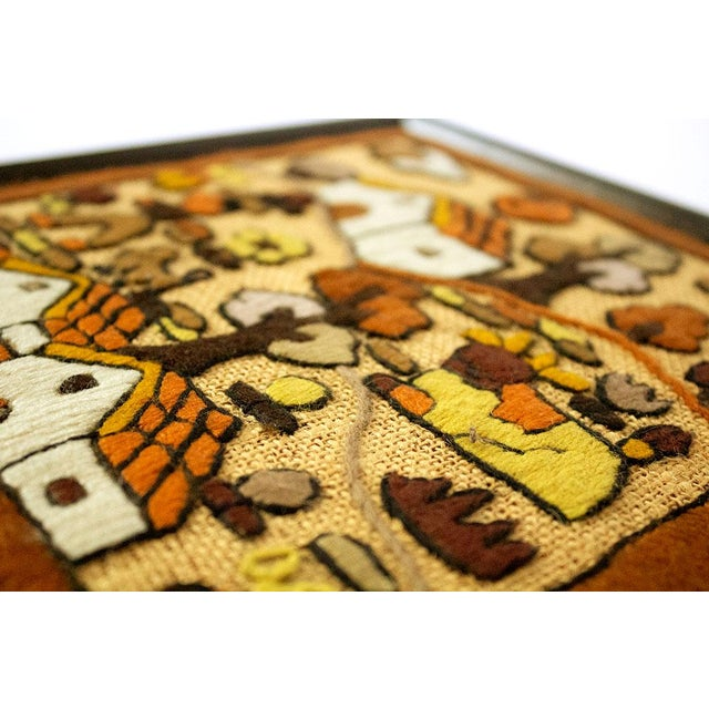 Folk Art Hand Embroidery Textile Art For Sale In Dallas - Image 6 of 7