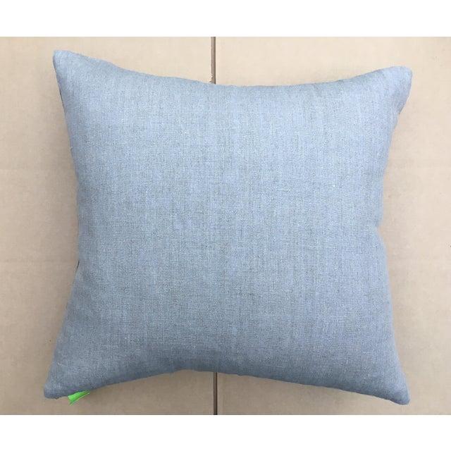 Gray Batik Cotton Tribal Pillow - Image 7 of 7