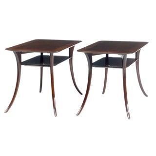 T.H. Robsjohn-Gibbings for Widdicomb Klismos Sabre Leg Tables - a Pair For Sale