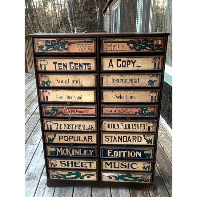 1920s Era Sheet Music Cabinet For Sale - Image 11 of 12
