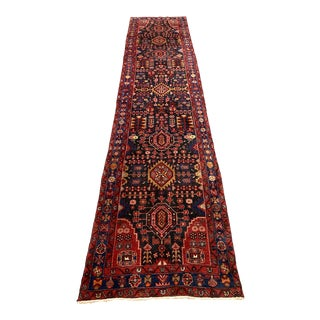 Late 20th Century Vintage Kurdish Hand Knotted Runner-3′6″ × 15′11″ For Sale