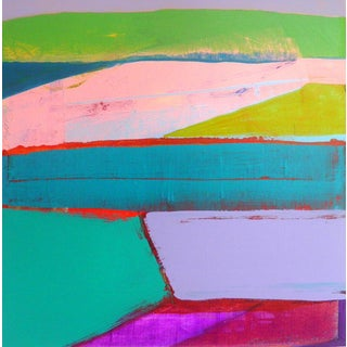 """Landscape Design 6"" Acrylic Painting For Sale"