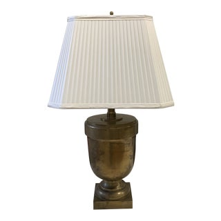 e.f. Chapman for Visual Comfort Antiqued Brass Urn Table Lamp For Sale