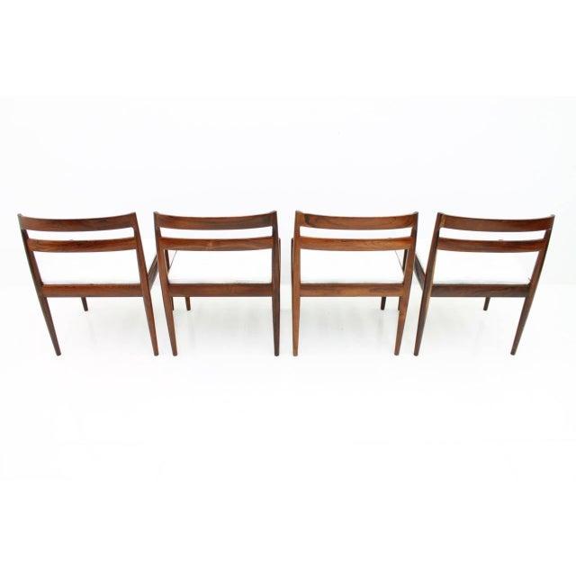 """Magnus Olesen Kai Kristiansen Dining Chairs """"Universe 301"""" for Magnus Olesen Denmark 1960s For Sale - Image 4 of 13"""