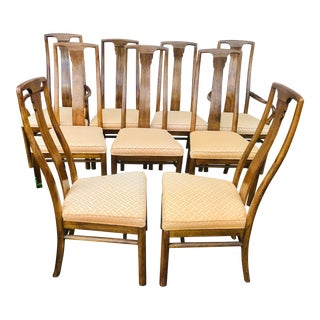 Vintage Drexel Heritage Dining Chairs - Set of 8 For Sale