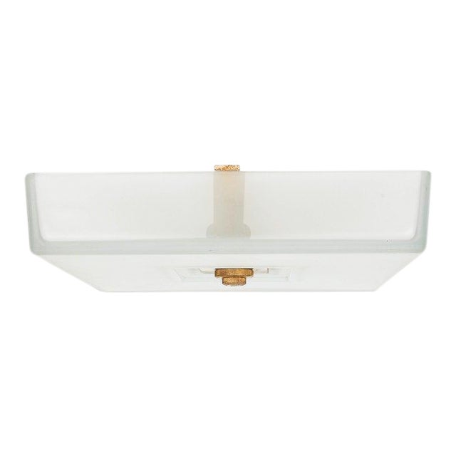 French Modernist Ceiling Fixture by Martin Et Guenier For Sale