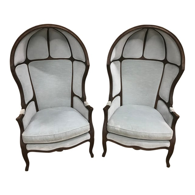 Late 20th Century Vintage Porter's Chairs - a Pair For Sale