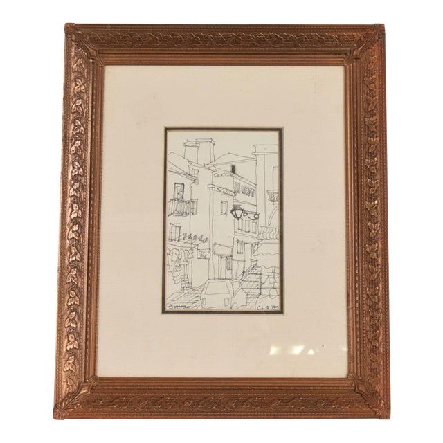 Art Deco Period Brass Picture Frame , Grapevine Ornamentation For Sale