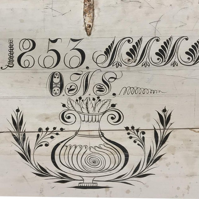 19th Century Rustic Swedish Painted Trunk For Sale - Image 11 of 13