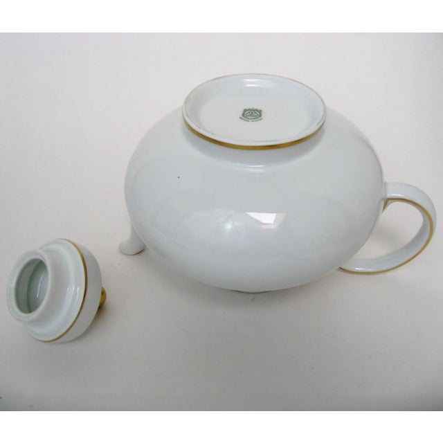 Gold Argentinian Porcelain Teapot For Sale - Image 8 of 9