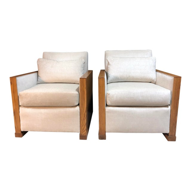 Stunning Ralph Lauren Club Chairs by Henredon—a Pair For Sale