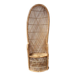 Rattan Wicker Throne For Sale