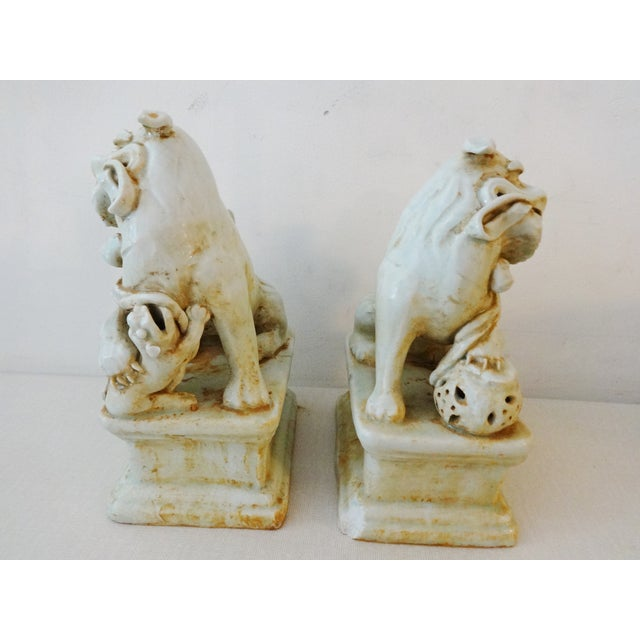 Celadon Foo Dogs - A Pair For Sale - Image 4 of 6