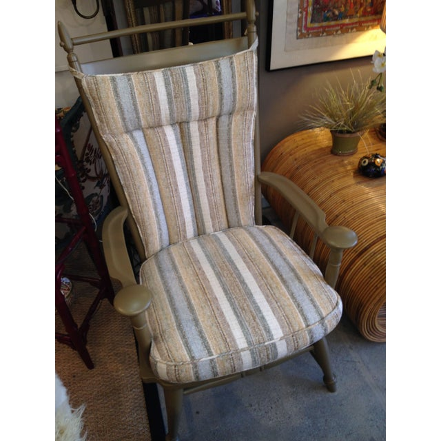 Windsor Chair with Striped Upholstered Cushions - Image 2 of 4
