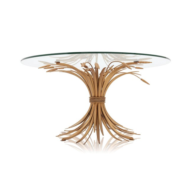 Hollywood Regency Coco Chanel Wheat Sheaf Coffee Table For Sale - Image 3 of 8