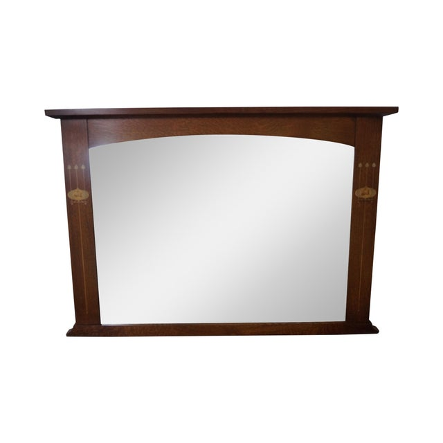 Stickley Harvey Ellis Inlaid Mission Oak Mirror - Image 1 of 10