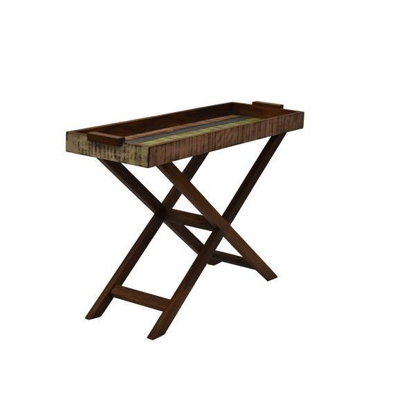 Reclaimed Wood Tray Table For Sale - Image 4 of 8