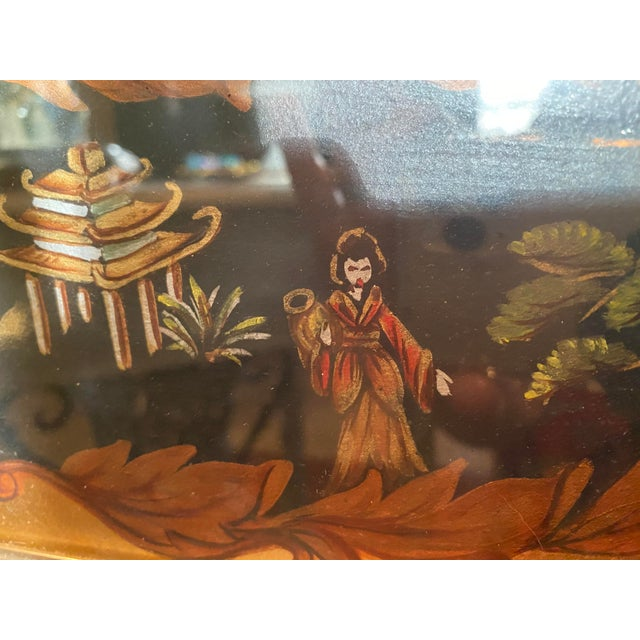 Vintage Labarge Eglomise Chinoiserie Mirror For Sale - Image 9 of 10