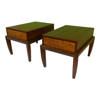 Brown & Salman End Tables - A Pair For Sale