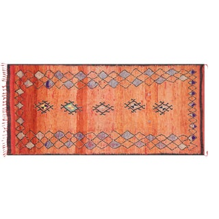 "1970s Moroccan Berber Carpet 5'7"" X 11'2"" For Sale"