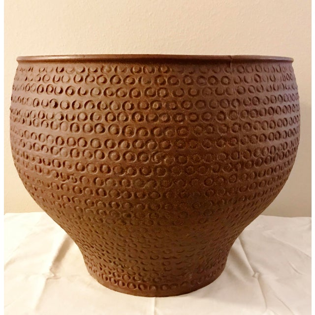 Mid Century Modern Large David Cressey Cheerio Vessel Architectural Pottery For Sale - Image 13 of 13